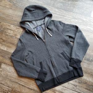 J. Crew Lightweight fleece full-zip hoodie